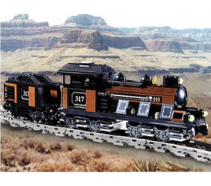 LEGO Large Train Engine and Tender with Brown Bricks Set