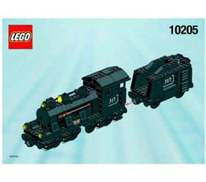 LEGO Large Train Engine with Tender, Black  Set 10205 Instructions