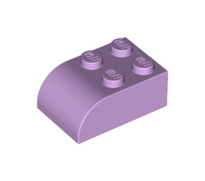 LEGO Lavender Brick 2 x 3 with Curved Top (6215)
