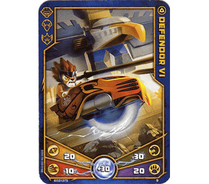 LEGO Legends of Chima Game Card 009 DEFENDOR VI (12717)
