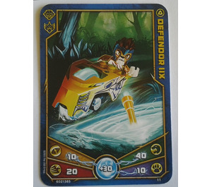 LEGO Legends of Chima Game Card 011 DEFENDOR IIX (12717)