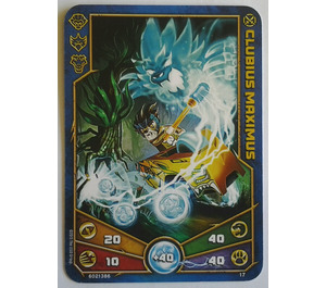 LEGO Legends of Chima Game Card 017 CLUBIUS MAXIMUS (12717)