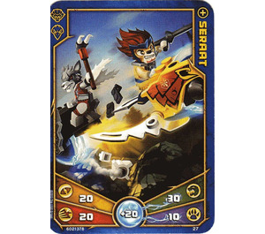 LEGO Legends of Chima Game Card 027 SERAAT (12717)