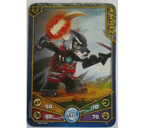LEGO Legends of Chima Game Card 071 WAKZ (12717)