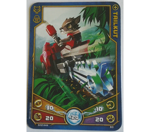 LEGO Legends of Chima Game Card 083 TAILKUT (12717)