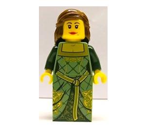 LEGO Lego Brand Store Female Lille, Green Princess (no back printing) Minifigure