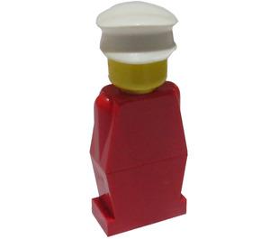 LEGO Legoland - Red, White Cap Minifigure