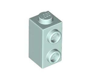 LEGO Light Aqua Brick 1 x 1 x 1.3 with Two Side Studs (32952)