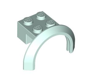 LEGO Light Aqua Mudguard with Round Arch 4 x 2 1/2 x 2 (50745)