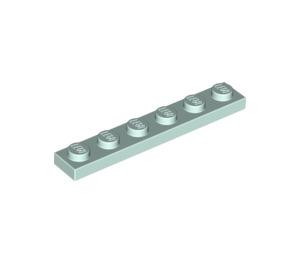 LEGO Light Aqua Plate 1 x 6 (3666)