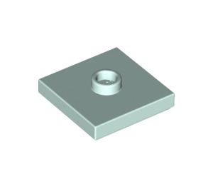 LEGO Light Aqua Plate 2 x 2 with Groove and 1 Center Stud (23893)