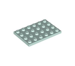 LEGO Light Aqua Plate 4 x 6 (3032)