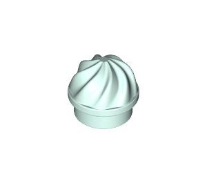 LEGO Light Aqua Round Plate 1 x 1 with Swirled Top (15470)