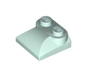 LEGO Light Aqua Slope 2 x 2 Curved with Curved End (47457)