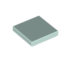 LEGO Light Aqua Tile 2 x 2 with Groove (3068)