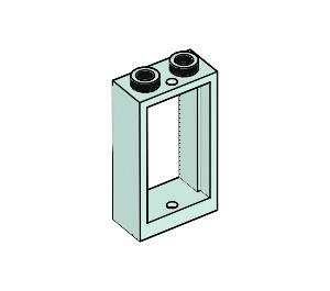 LEGO Light Aqua Window 1 x 2 x 3 without Sill (60593)