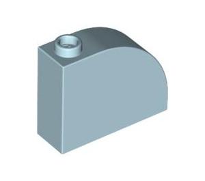 LEGO Light Blue Brick 1 x 3 x 2 Curved Top (33243)