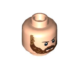 LEGO Light Flesh Captain America Plain Head (Recessed Solid Stud) (38004)