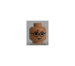 LEGO Light Flesh Harry Potter Head with Glasses and Red Lightning Bolt (Safety Stud)