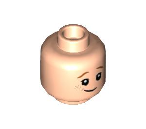 LEGO Light Flesh Ron Weasley Plain Head (Recessed Solid Stud) (39345)