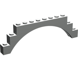LEGO Light Gray Arch 1 x 12 x 3 without Raised Arch (6108)