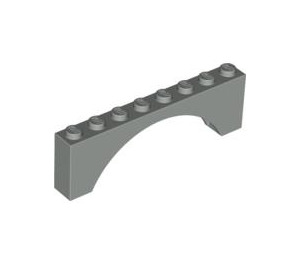 LEGO Light Gray Arch 1 x 8 x 2 Thick Top and Reinforced Underside (3308)