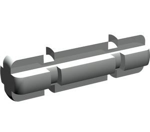 LEGO Light Gray Axle 2 with Grooves