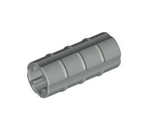 LEGO Light Gray Axle Connector (Ridged with 'x' Hole) (6538)