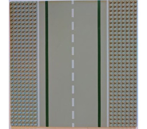 LEGO Baseplate 32 x 32 Road 7-Stud Straight with White Sidelines