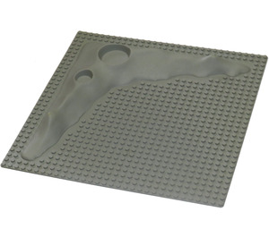 LEGO Light Gray Baseplate Raised 32 x 32 Crater without Crater Studs (3947)