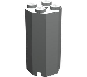 LEGO Light Gray Brick 2 x 2 x 3 & 1/3 Octagonal (6037)