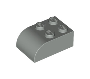 LEGO Light Gray Brick 2 x 3 with Curved Top (6215)