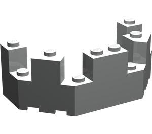 LEGO Light Gray Brick 4 x 8 x 2.333 Turret Top (6066)
