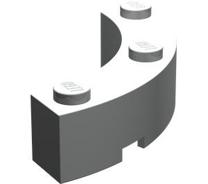 LEGO Light Gray Brick Corner 4 x 4 (Wide with 3 Studs)