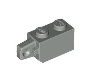 LEGO Light Gray Hinge Brick 1 x 2 Locking with Single Finger (Vertical) On End (30364)