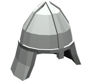 LEGO Light Gray Knights Helmet with Neck Protector (3844)