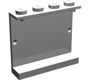 LEGO Light Gray Panel 1 x 4 x 3 without Side Supports, Solid Studs (4215)
