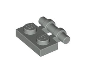 LEGO Light Gray Plate 1 x 2 with Handle (Open Ends) (2540)