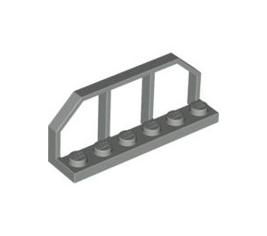 LEGO Light Gray Plate 1 x 6 with Train Wagon End (6583)