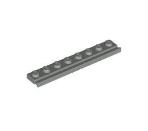 LEGO Light Gray Plate 1 x 8 with Door Rail (4510)