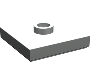 LEGO Light Gray Plate 2 x 2 with Groove and 1 Center Stud