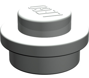 LEGO Light Gray Round Plate 1 x 1 (6141)