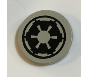 LEGO Light Gray Round Tile 2 x 2 with Imperial Insignia Sticker