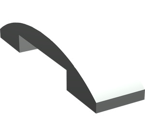 LEGO Light Gray Slope 1 x 4 Curved Double