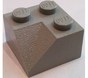 LEGO Light Gray Slope 2 x 2 (45°) with Double Concave (Rough Surface) (3046)