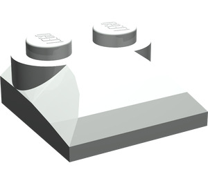 LEGO Light Gray Slope 2 x 2 Curved with Curved End
