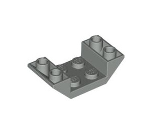 LEGO Light Gray Slope 2 x 4 (45°) Double Inverted with Open Center (4871)