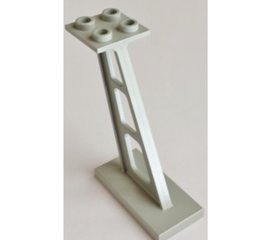 LEGO Light Gray Support 2 x 4 x 5 Stanchion Inclined with Thin Supports (4476)