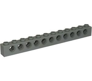 LEGO Light Gray Technic Brick 1 x 12 with Holes (3895)