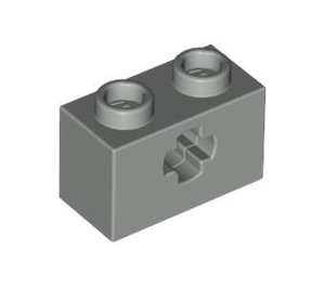 LEGO Light Gray Technic Brick 1 x 2 with Axle Hole (Old Style with '+' Opening) (32064)